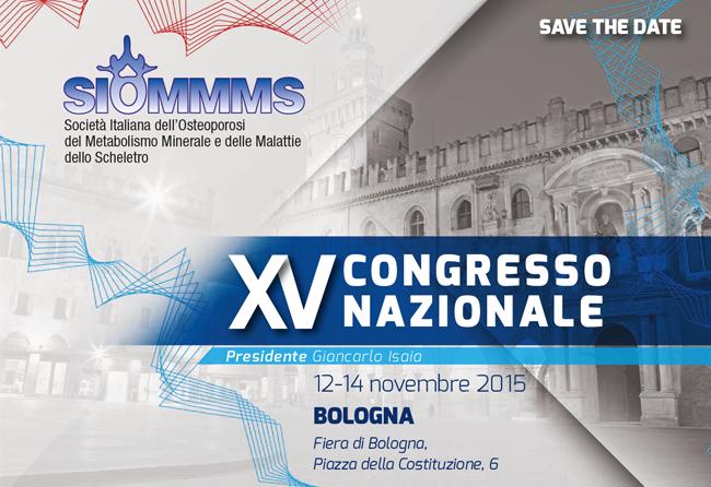 XV Congresso SIOMMMS, Bologna 12-14 Novembre