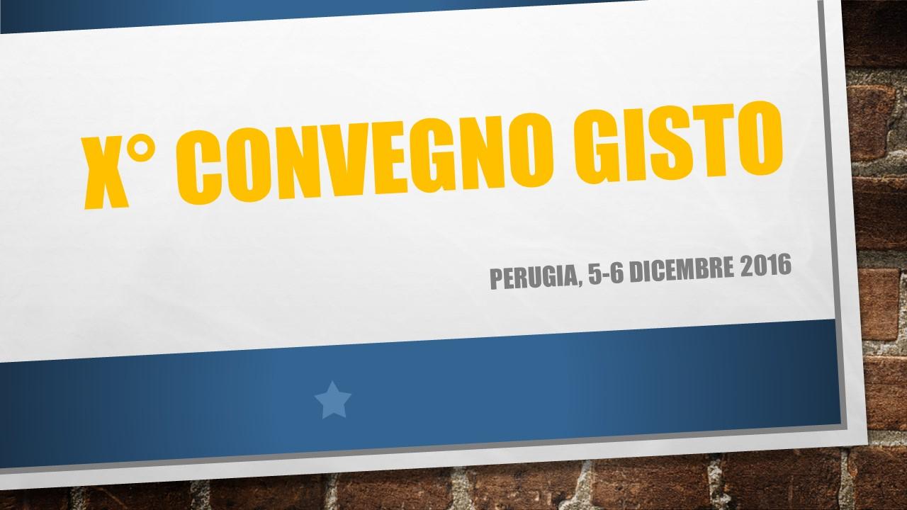 X Congresso GISTO