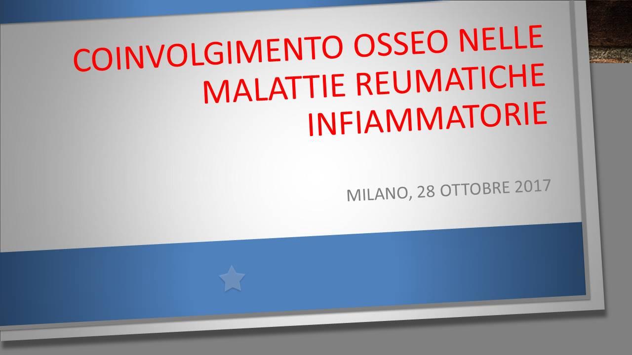 COINVOLGIMENTO OSSEO NELLE MALATTIE REUMATICHE INFIAMMATORIE