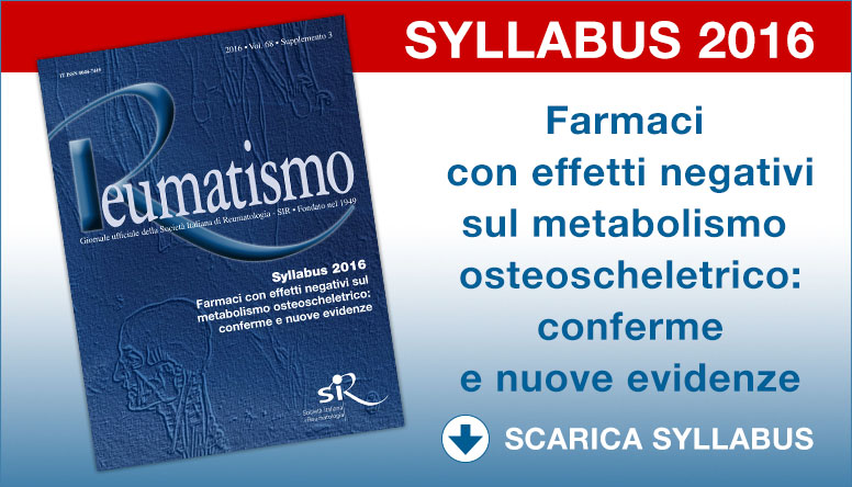 Disponibile online il Syllabus 2016