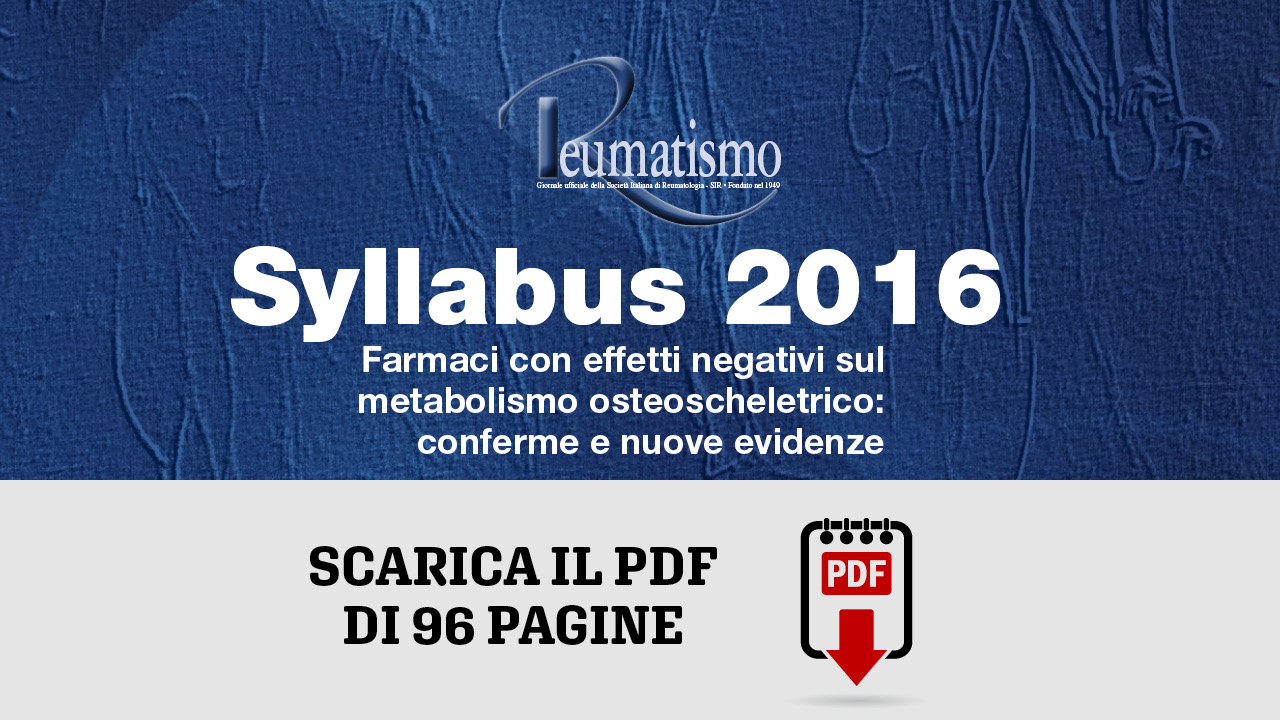 Disponibile online il Syllabus 2016