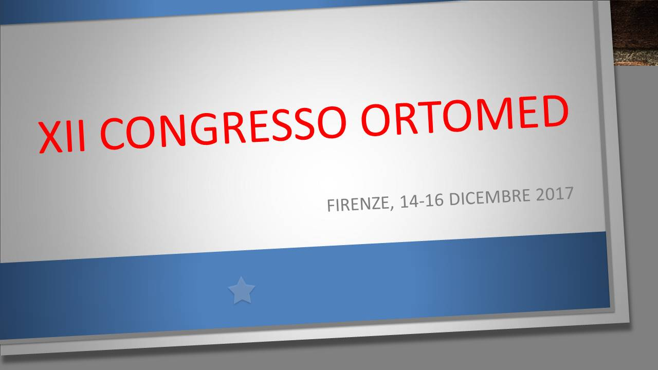 XII CONGRESSO ORTOMED