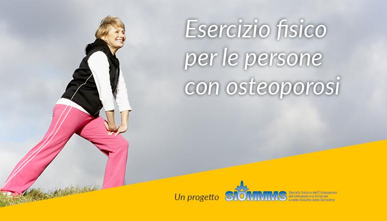 """""""Muoviti anche tu"""": gli esercizi giusti per chi ha l'osteoporosi"""