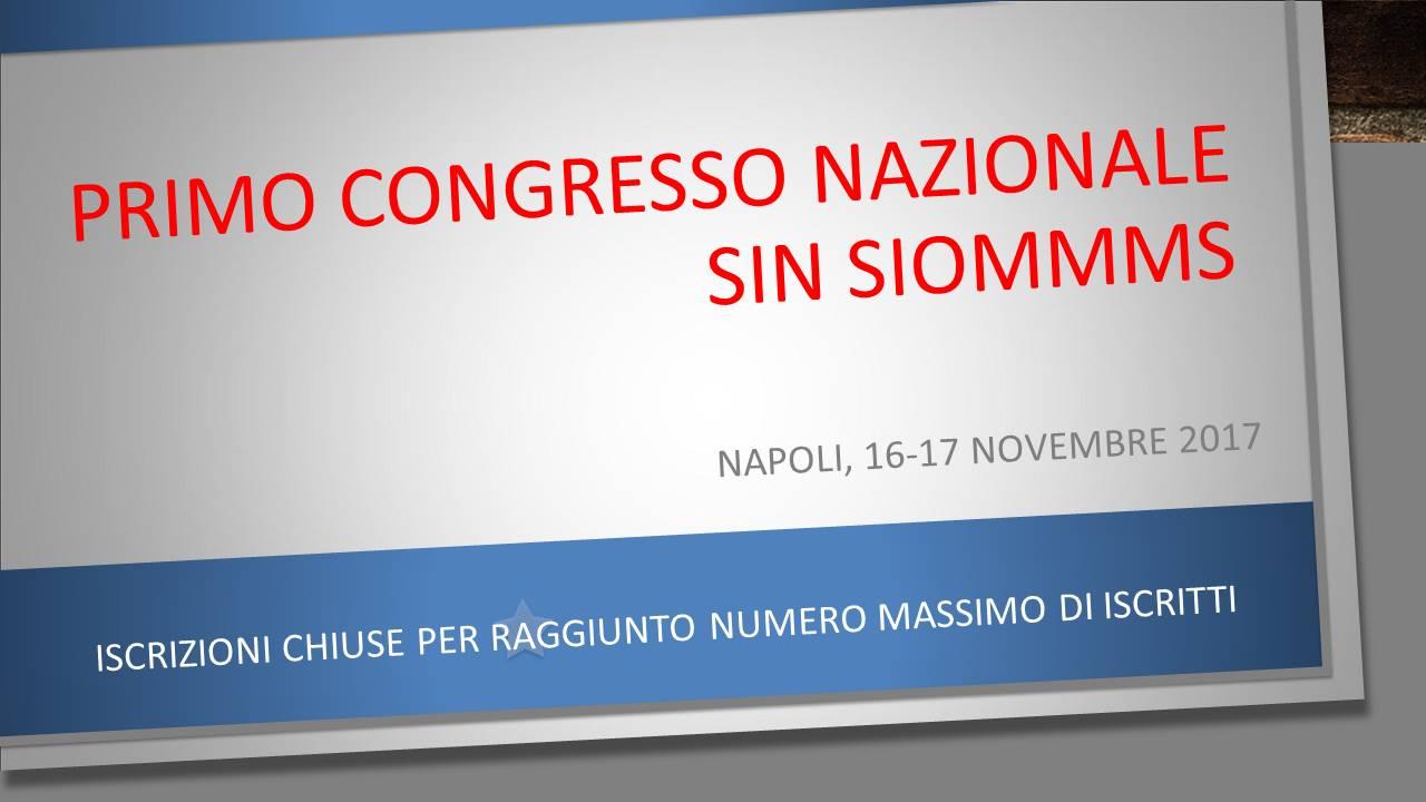 Primo Congresso Nazionale SIN SIOMMMS