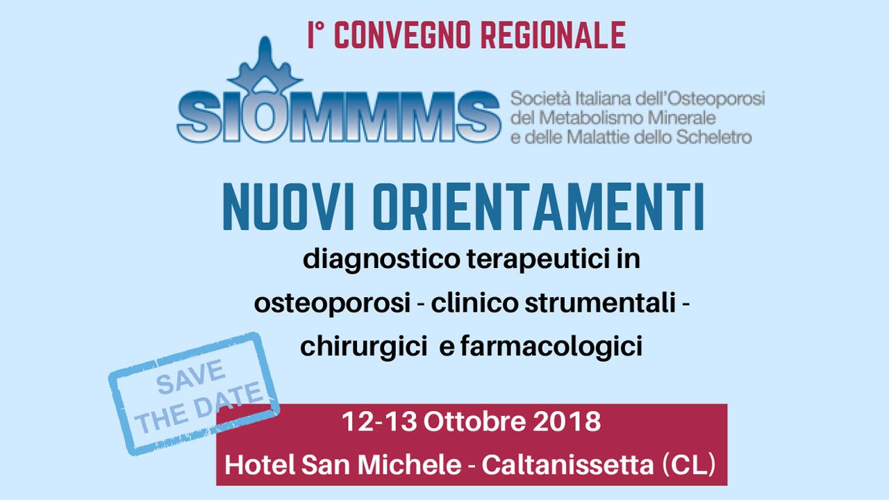I Convegno regionale SIOMMMS – Nuovi Orientamenti