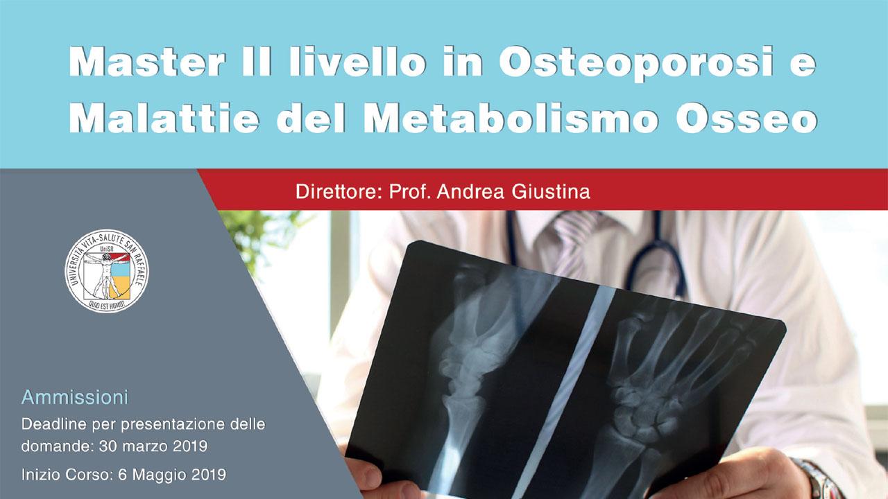 Master II livello in Osteoporosi e Malattie del Metabolismo Osseo