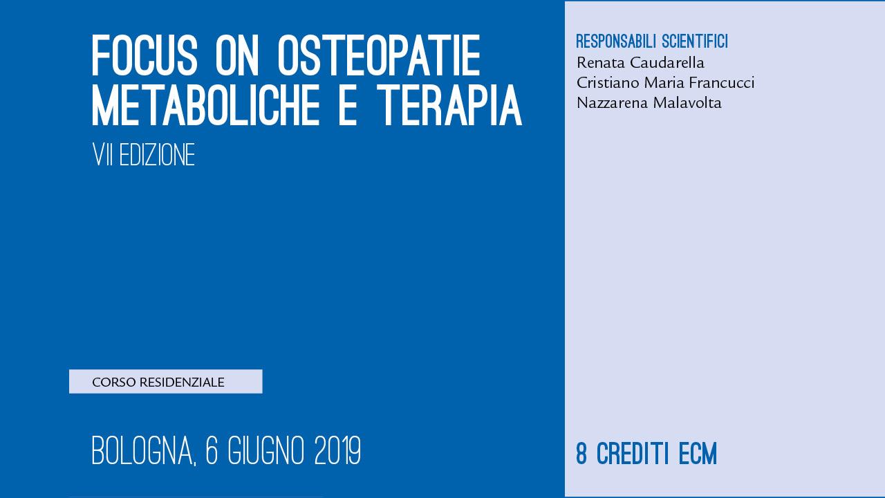 Focus on Osteopatie Metaboliche e Terapia