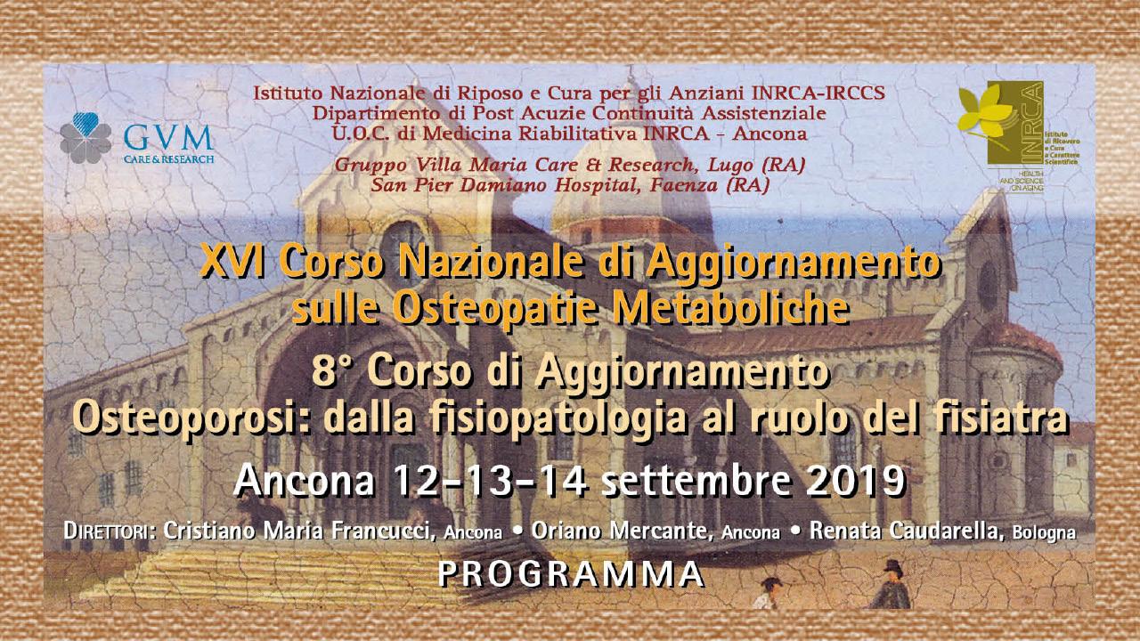 XVI Corso Nazionale di Aggiornamento sulle Osteopatie Metaboliche