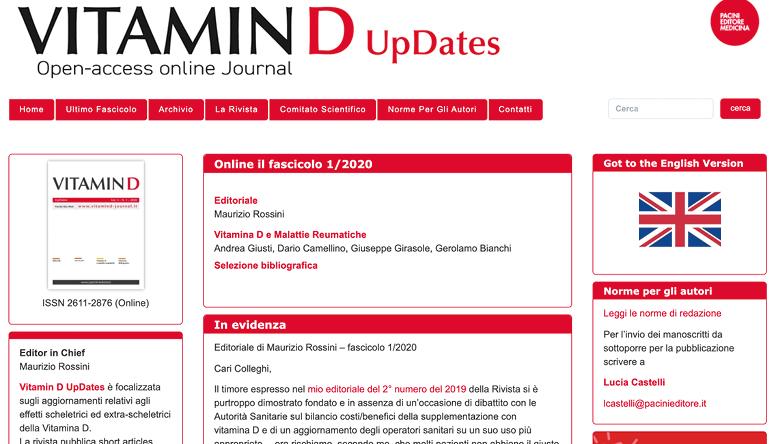 VitaminD updates, una rivista sugli effetti della vitamina D sullo scheletro …e oltre